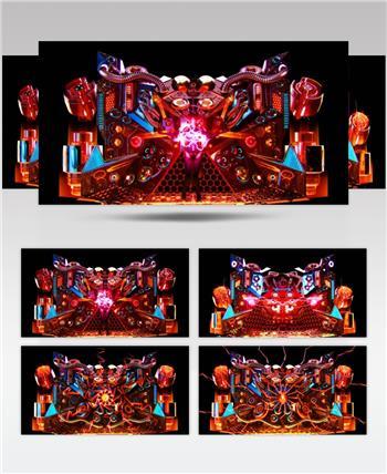 YM2764动感机械3D效果(有音乐) 酒吧视频 dj舞曲 夜店视频 酒吧舞蹈