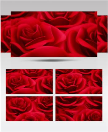 -红玫瑰浪漫款红玫瑰浪漫心型唯美婚礼背景1 婚礼系列大全 婚庆