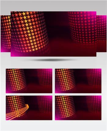 L00986精品冲冠LED视频设计大屏幕素材 五角星圆柱光效场景颁奖动 颁奖开场年会