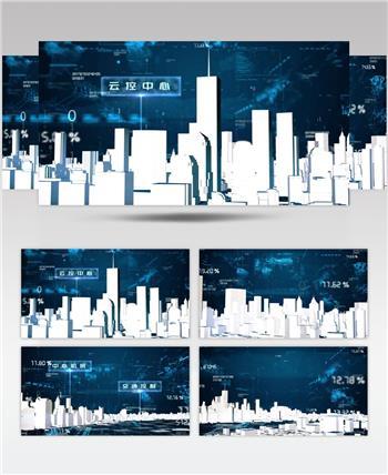 科技虚拟智慧城市规划概念展示AE模板