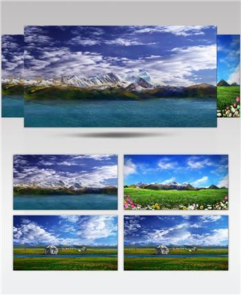 YM1128天域青藏高原西藏 草原山川歌舞 配乐 歌舞
