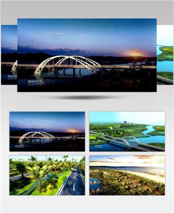 04海南滨海大道道路景观三维动画-典尚设计- 道路景观三维动画 道路设计动画