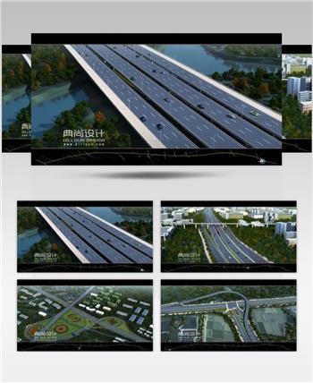 16二环路道路三维动画2 道路景观三维动画 道路设计动画