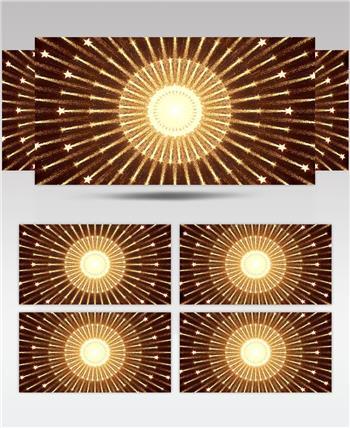 D98-金色霓虹节奏动感变换闪烁放射 (2) 颁奖开场年会