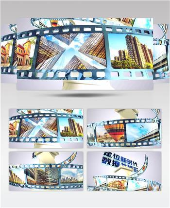 4K超清E3D三维大数据企业图片宣传模型内展示