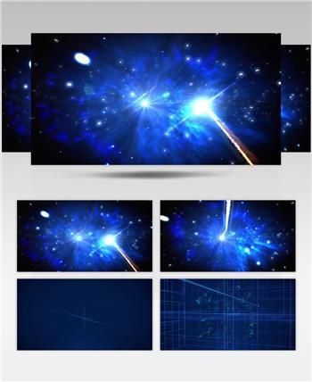 大气粒子穿梭互联网科技片头AE模板