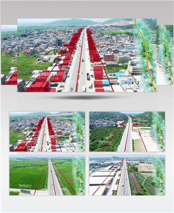 海汕路红线范围06加标 道路三维动画 大道道动画
