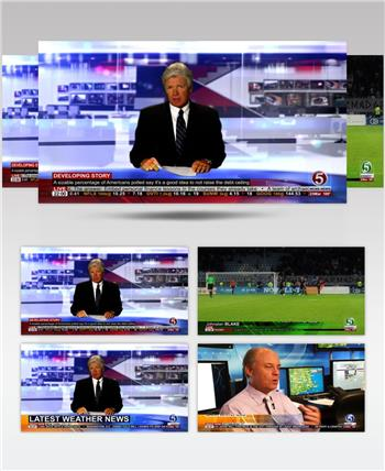 13181 新闻演播室栏目包装 AE素材 ae源文件模版 栏目包装ae