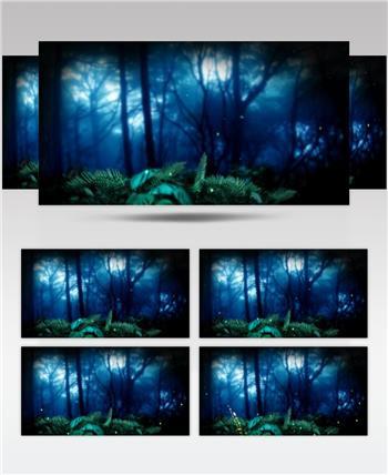 梦幻童话森林 款A00136梦幻童话森林无音乐 led视频素材