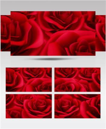 -红玫瑰浪漫款红玫瑰浪漫心型唯美婚礼背景3 婚礼系列大全 婚庆