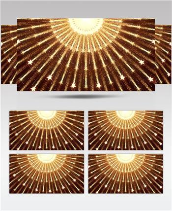 D98-金色霓虹节奏动感变换闪烁放射 (5) 颁奖开场年会