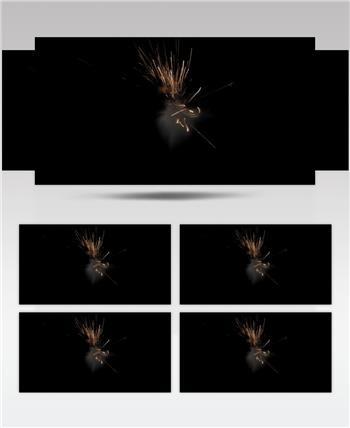 -带通道的火花四溅的特效素材.带通道的火花四溅的特效素材.CouchHit03