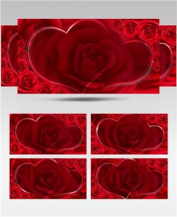 -红玫瑰浪漫款红玫瑰浪漫心型唯美婚礼背景5 婚礼系列大全 婚庆