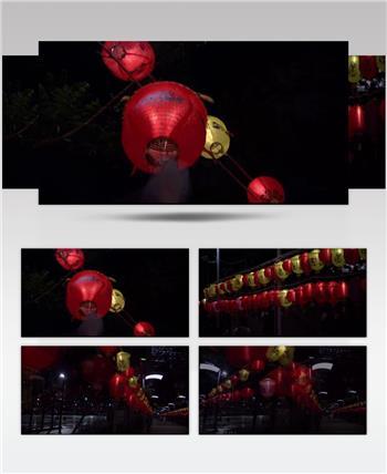 香港春节灯会中国名胜风景标志性景点高清视频素材