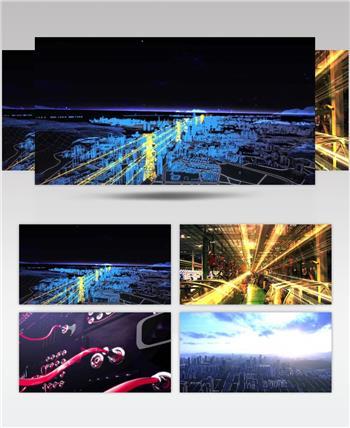 电网电力线路输送供应实拍高清视频素材