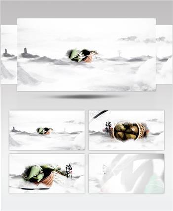 中国风水墨端午节专题ae模板