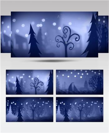 卡通雪景 款A15610卡通动漫圣诞有音乐