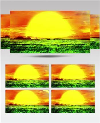 YM2304夕阳+太阳+大气草原 草原山川歌舞 配乐 歌舞