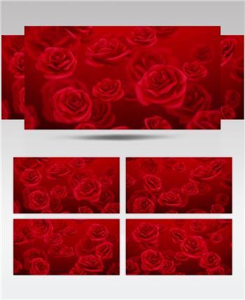 -红玫瑰浪漫款红玫瑰浪漫心型唯美婚礼背景4 婚礼系列大全 婚庆
