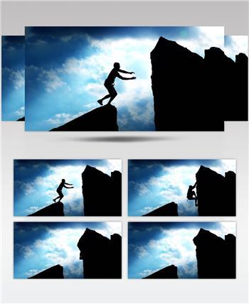 攀岩 不断前进 坚持不懈 (1)宣传片通用商务高清素材视频高清素材下载