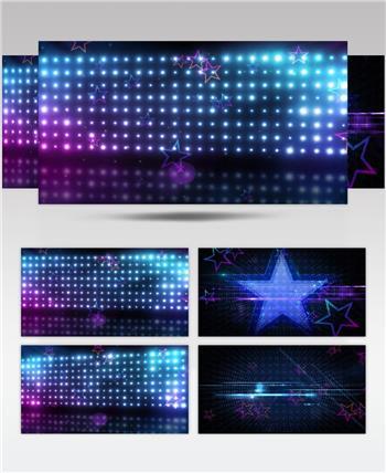 动感时尚开场五角星演出背景酒吧娱乐夜场素材 酒吧视频 dj舞曲 夜店视频