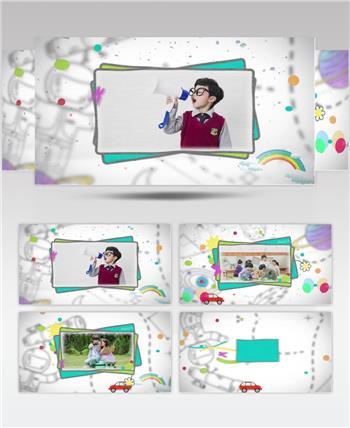 卡通创意趣味儿童节日纪念电子相册
