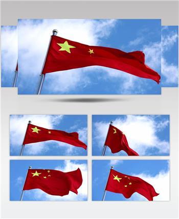 红旗飘飘实拍 歌唱祖国系列 配乐 歌舞