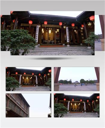 扬州景_batch中国名胜风景标志性景点高清视频素材