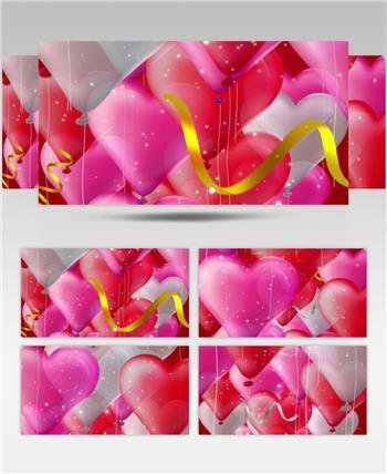 -红玫瑰浪漫款红玫瑰浪漫心型唯美婚礼背景7 婚礼系列大全 婚庆