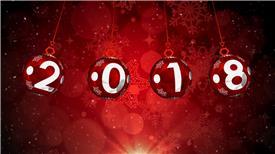 PR:新年挂球撞球晚会开场片头模板 新年节日pr素材