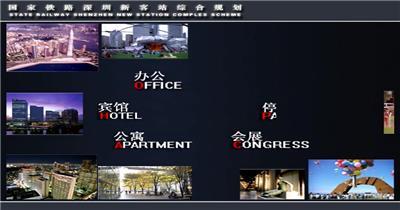 火车站 多媒体演示_batch 建筑多媒体景观多媒体