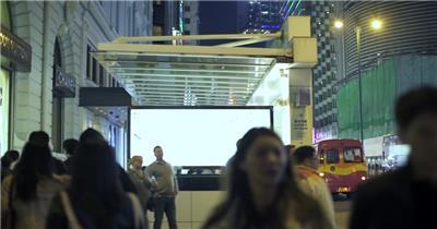 旅行街拍香港大街小巷风土人情实拍视频