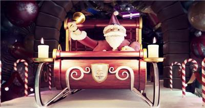 YM4833动感圣诞节立体3D创意(有音乐)节日庆典视频 庆祝视频节日视频